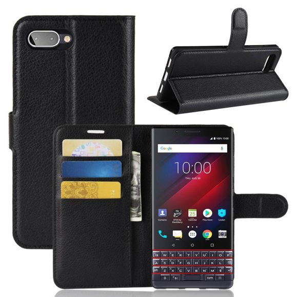 BlackBerry KEY2 LE - Étui style cuir porte cartes
