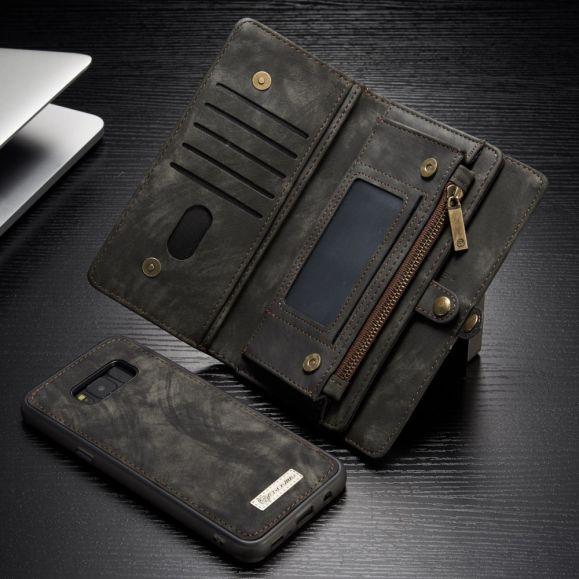 Samsung Galaxy S8 Plus - Coque et housse porte cartes 2-en-1 - Noir