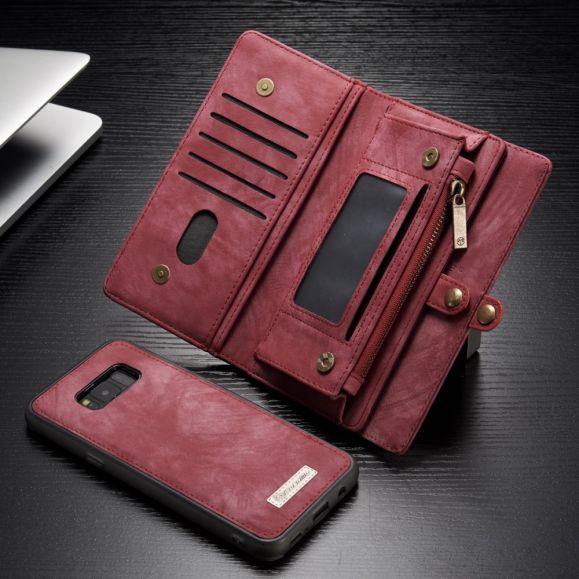 Samsung Galaxy S8 Plus - Coque et housse porte cartes 2-en-1 - Rouge