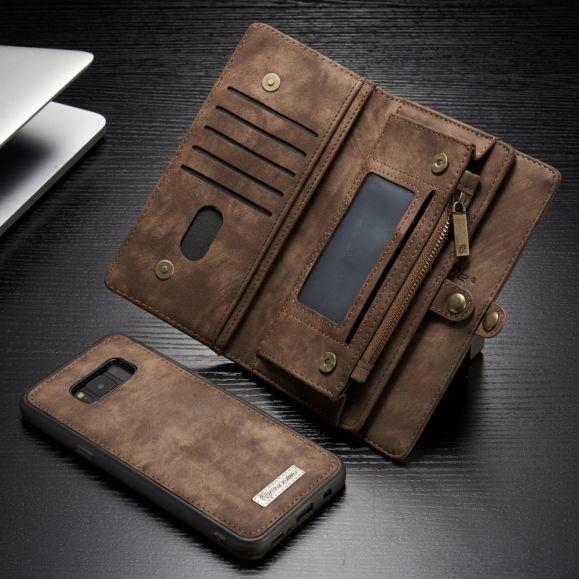 Samsung Galaxy S8 Plus - Coque et housse porte cartes 2-en-1 - Marron