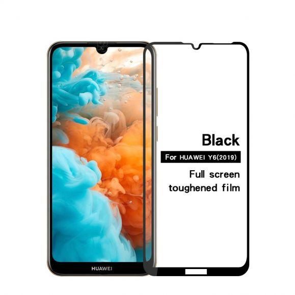 Huawei Y6 2019 - Protection d'écran en verre trempé full size - Noir