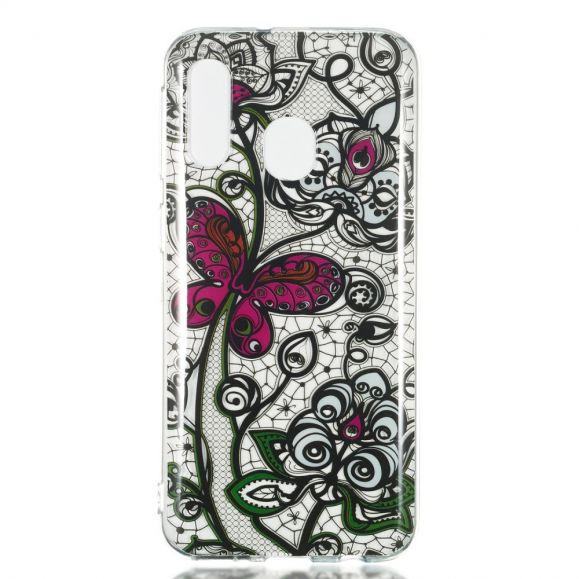 Samsung Galaxy A40 - Coque Black Lace & Butterfly