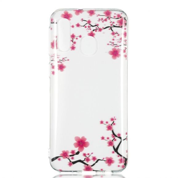 Samsung Galaxy A40 - Coque transparente branches fleuries