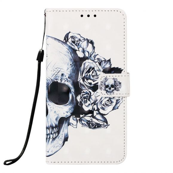 Samsung Galaxy A40 - Housse skull flowers