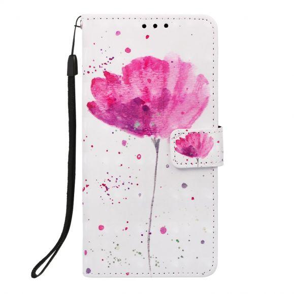 Huawei Y6 2019 - Housse à lanière Pink flower