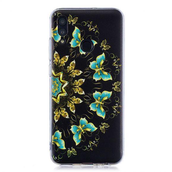 Honor 10 Lite - Coque papillons bleus et dorés