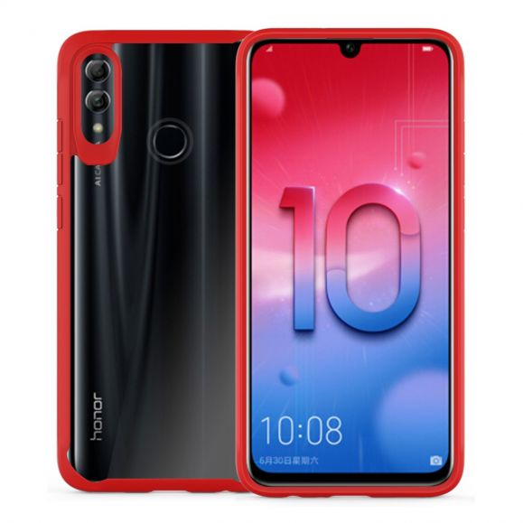 Honor 10 Lite - Coque hybride Crystal bumper - Rouge