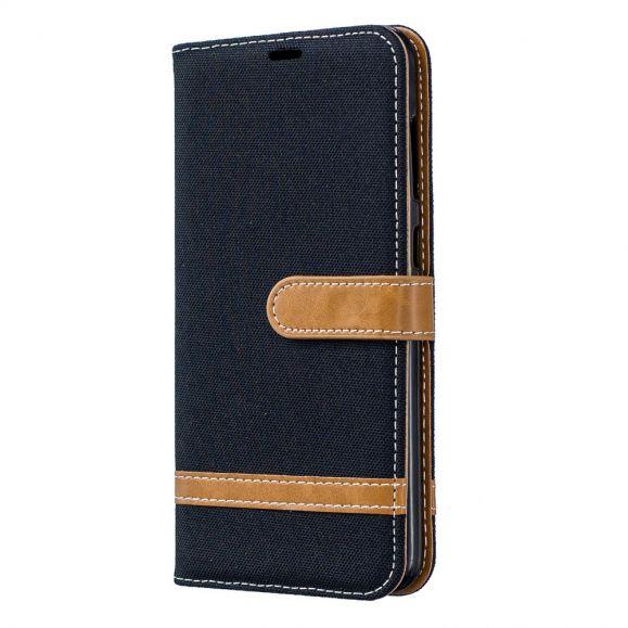 Samsung Galaxy A70 - Étui revêtement tissu avec lanière