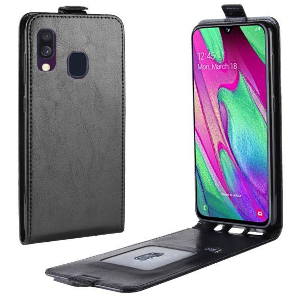 Étui Samsung Galaxy A40 simili cuir avec rabat verticale
