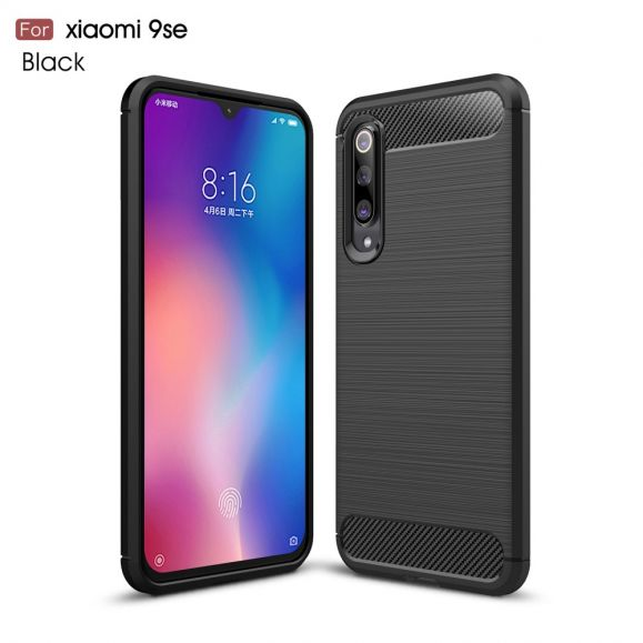 Xiaomi Mi 9 SE - Coque gel brossé carbone