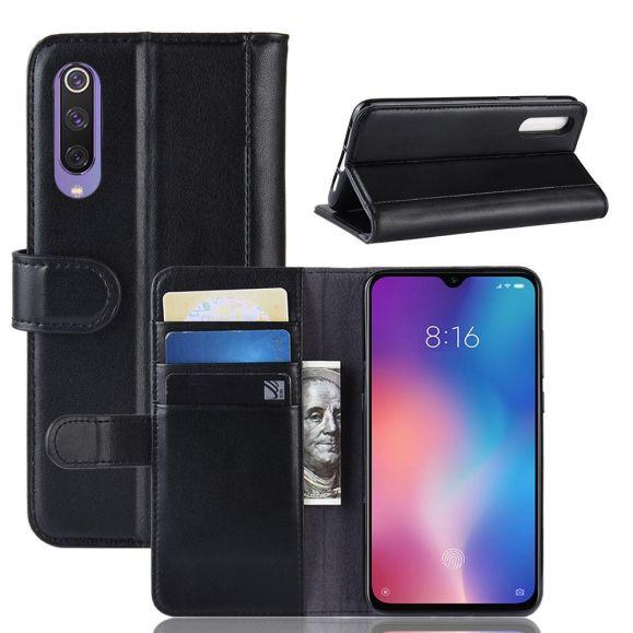 Xiaomi Mi 9 SE - Étui cuir premium porte cartes - Noir