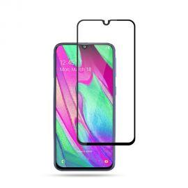 Samsung Galaxy A40 - Protection d'écran en verre trempé full size - Noir