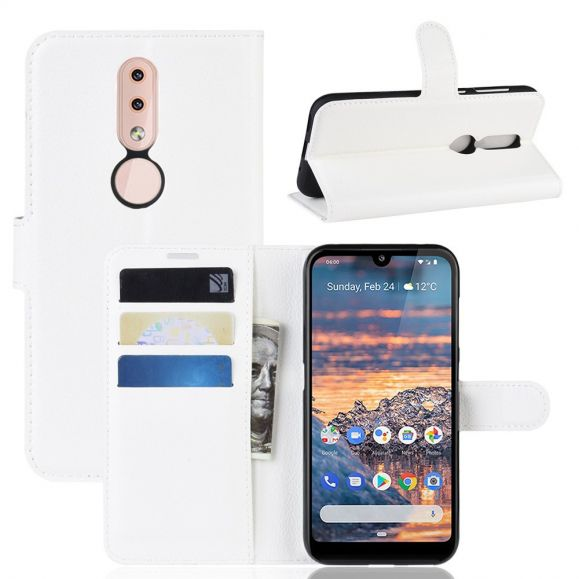 Nokia 4.2 - Étui style cuir porte cartes