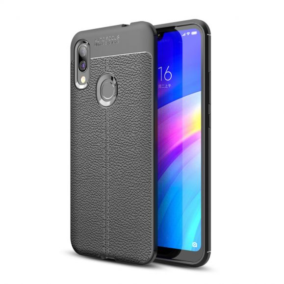 Xiaomi Redmi 7 - Coque gel finition simili cuir
