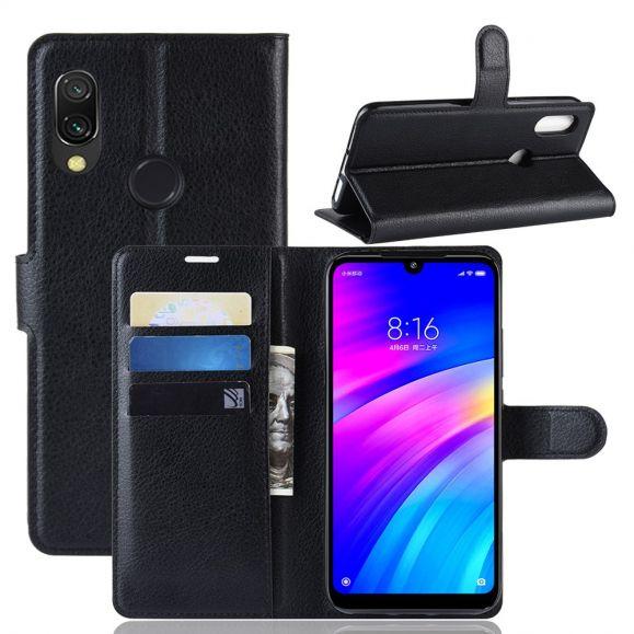 Xiaomi Redmi 7 - Étui style cuir porte cartes