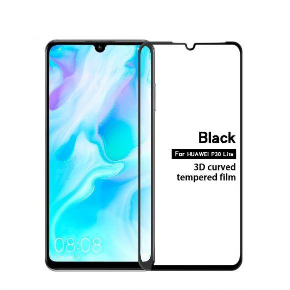 Huawei P30 Lite - Protection d'écran en verre trempé full size - Noir