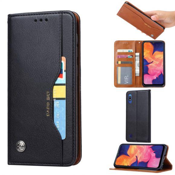 Samsung Galaxy A10 - Housse cuir stand porte cartes