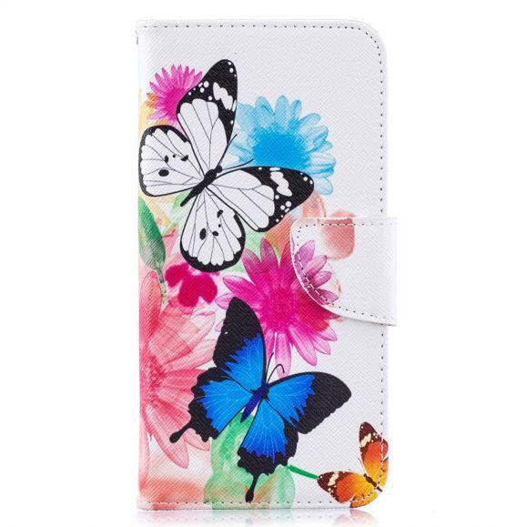 Samsung Galaxy A10 - Étui papillons et fleurs colorées