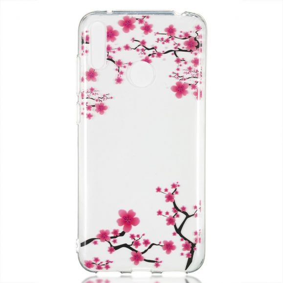 Huawei Y7 2019 - Coque transparente branches fleuries