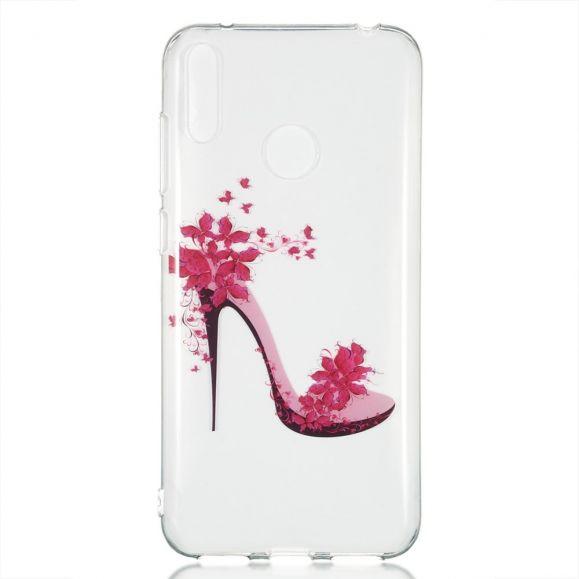 Huawei Y7 2019 - Coque transparente talon fleuri
