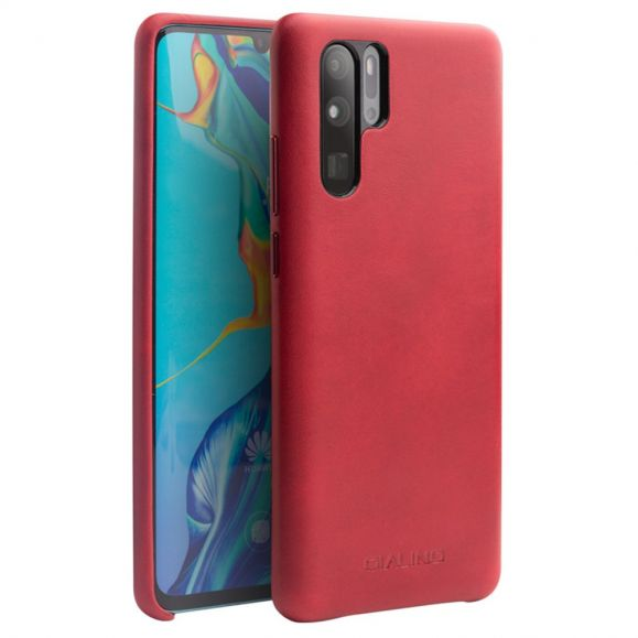 Huawei P30 Pro - Coque QIALINO cuir premium - Rouge