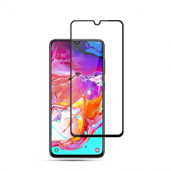 Samsung Galaxy A70 - Protection d'écran en verre trempé full size - Noir