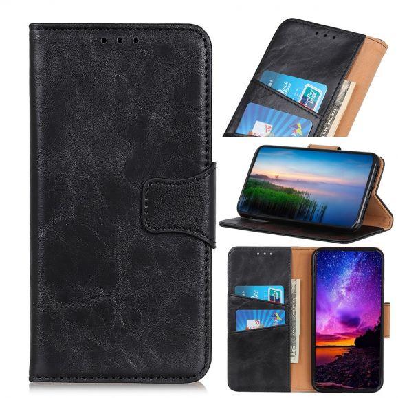 Samsung Galaxy A20e - Étui Edouard simili cuir porte cartes