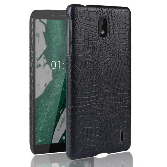 Nokia 1 Plus - Coque effet cuir texture peau de crocodile