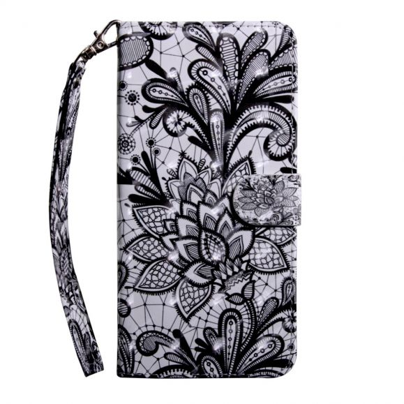 Sony Xperia 10 Plus - Étui avec rabat Lace Flower
