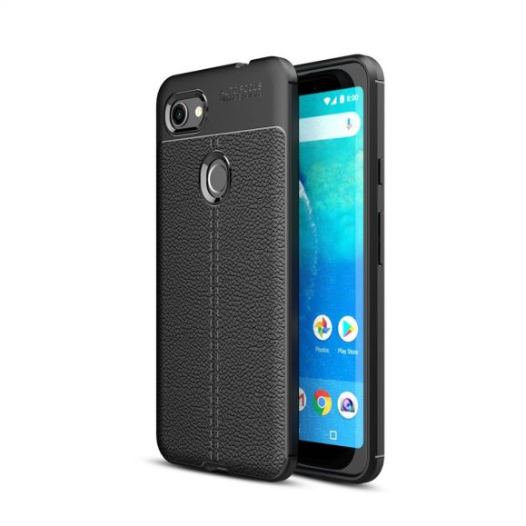 Google Pixel 3a XL - Coque gel finition simili cuir