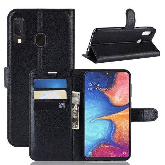 Samsung Galaxy A20e - Étui style cuir portefeuille