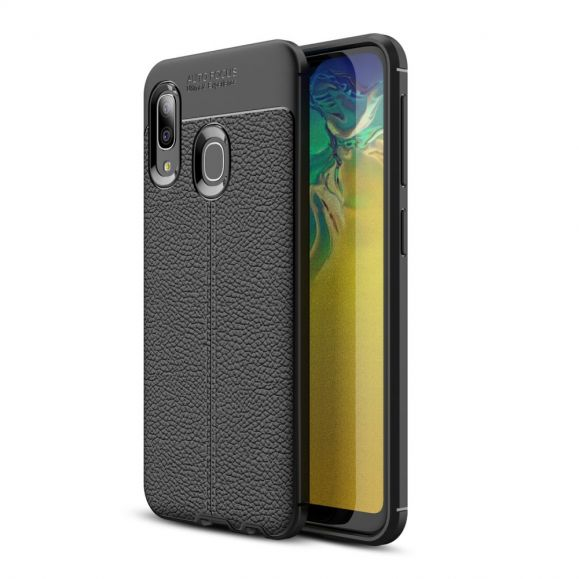 Samsung Galaxy A20e - Coque gel finition simili cuir