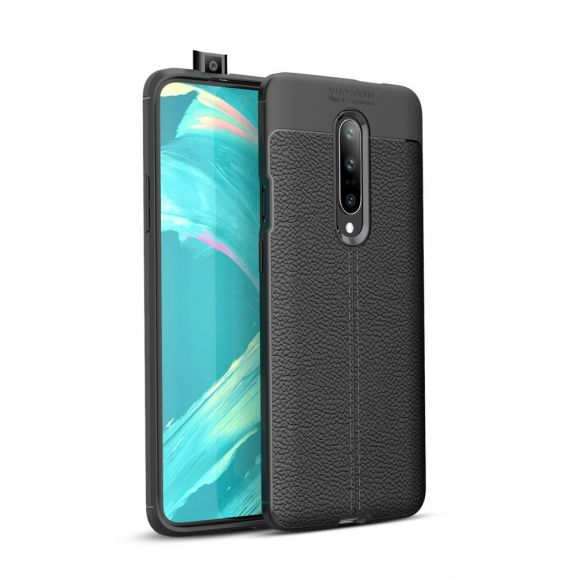 OnePlus 7 Pro - Coque gel finition simili cuir