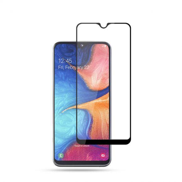 Samsung Galaxy A20e - Protection d'écran en verre trempé full size - Noir