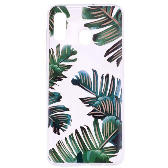 Samsung Galaxy A20e - Coque feuilles vertes