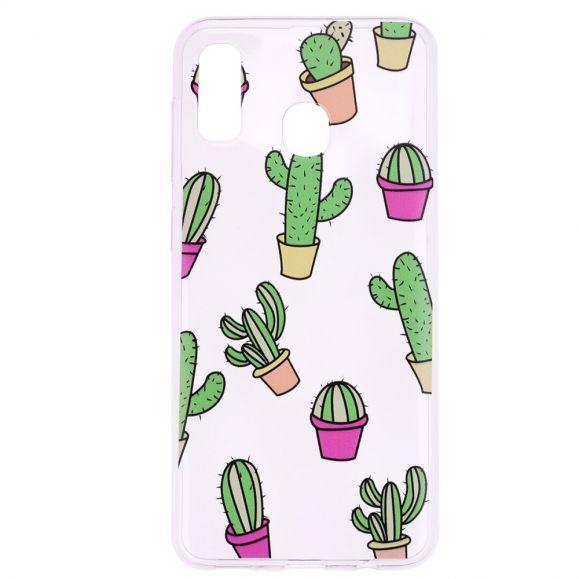 Samsung Galaxy A20e - Coque transparente cactus