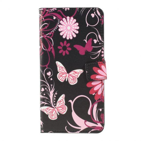 Samsung Galaxy A10 - Étui papillons et fleurs