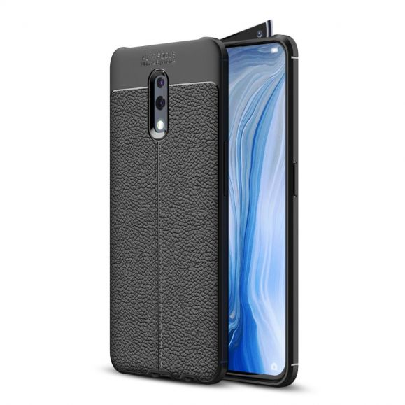 Oppo Reno - Coque gel finition simili cuir