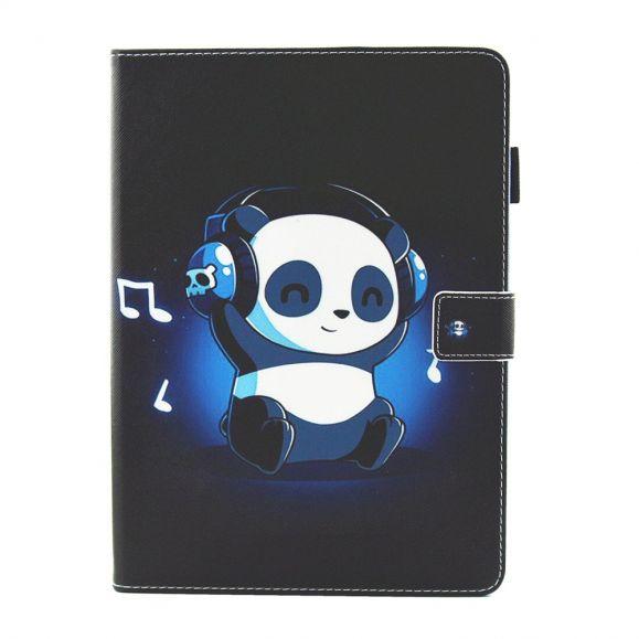 iPad Mini 2019 - Étuis Panda écoutant de la musique