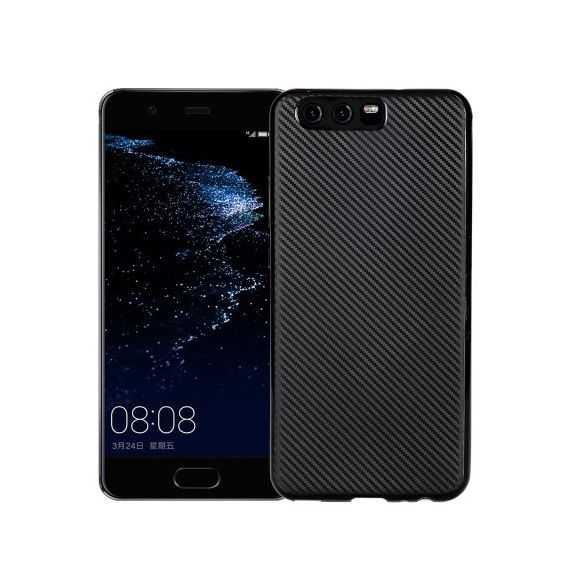 Coque Huawei P10 Fibre Carbone - Noir