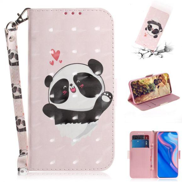 Huawei P Smart Z - Étui à lanière mignon panda