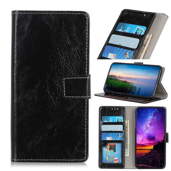 Samsung Galaxy A80 - Étui effet cuir luxueux coutures