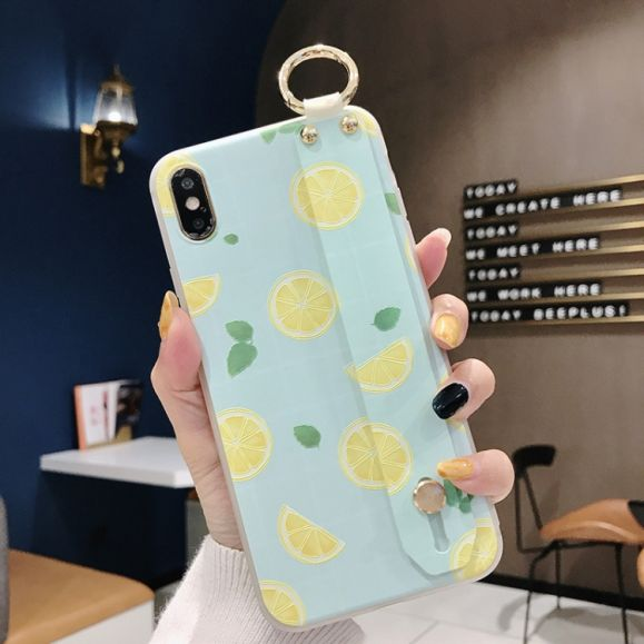 iPhone XS / X - Coque avec anse citron