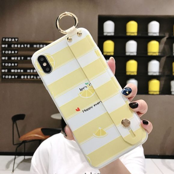 iPhone XS / X - Coque avec anse Happy Lemon