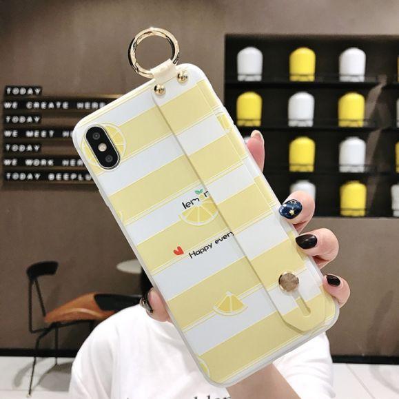 iPhone XS / X - Coque avec anse Happy Lemon
