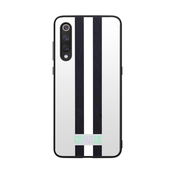 Xiaomi Mi 9 - Coque Nillkin motifs rayés noir / blanc