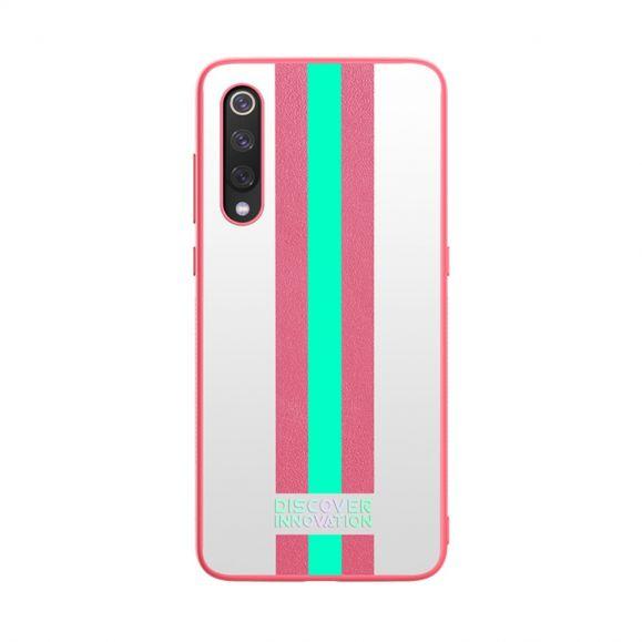 Xiaomi Mi 9 - Coque Nillkin motifs rayés - Rose / Vert