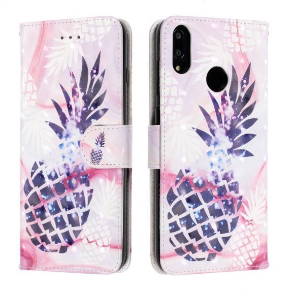 Huawei Y7 2019 - Étui imprimé ananas
