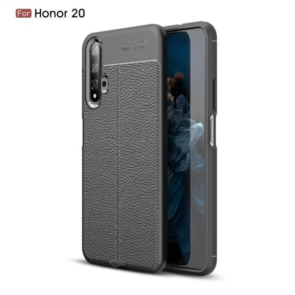 Honor 20 - Coque gel finition simili cuir
