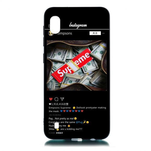 Samsung Galaxy A10 - Coque Supreme Instagram